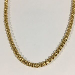"""Jewelry - 24k Yellow Gold Antique Necklace Chain 24"""" 3.5mm"""